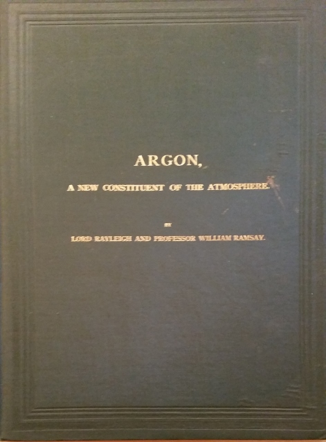 Image for Argon, A New Constituent of the Atmosphere
