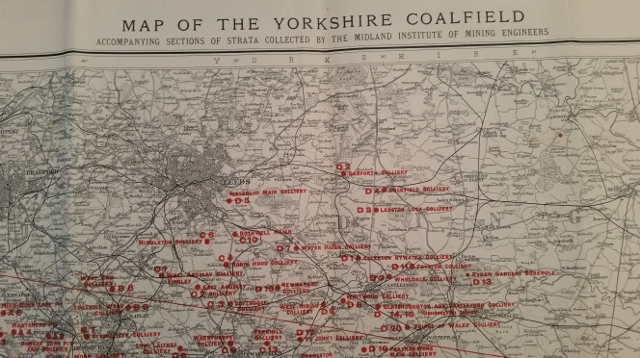 Image for Cross Country Sections and Map of Yorkshire Coalfield 1902-1913
