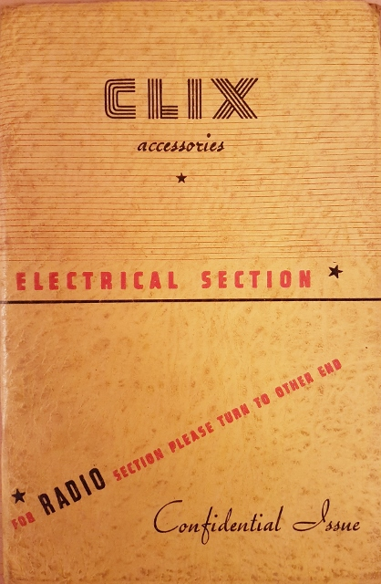 Image for Clix Annual Catalogue 1939 Edition