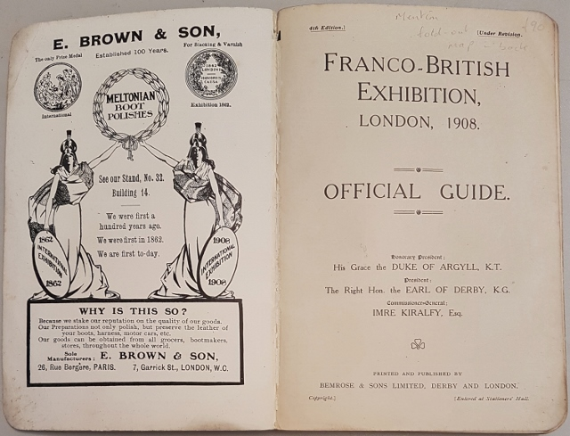 Image for Franco-British Exhibition, London 1908. Official Guide