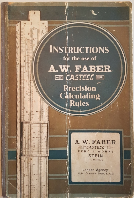 "Image for Instruction for the Use of A.W. Faber ""Castell"" Precision Calculating Rules"