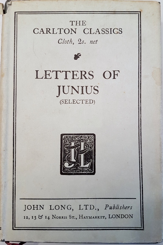 Image for Letters of Junius (Selected)