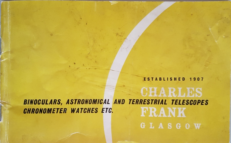 Image for Charles Frank Ltd binoculars, Astronomical and Terrestrial Telescopes chronometer Watches Etc