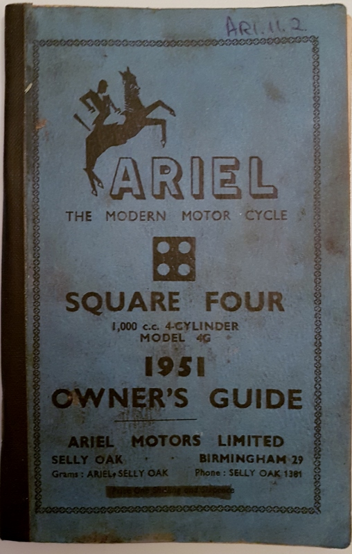 Image for Ariel the Modern Motor Cycle 1951 : Square 4  De Luxe 1000cc Model 4G Owner's Guide