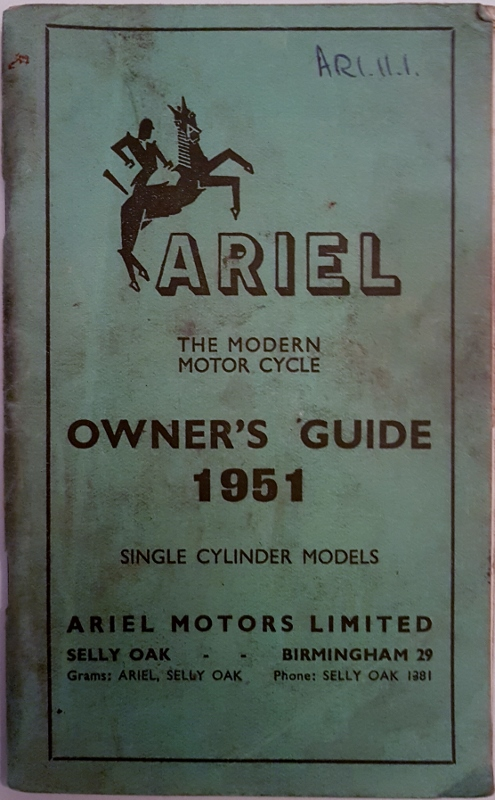 Image for Ariel the Modern Motor Cycle Owner's Guide 1951 : Single Cylinder Models