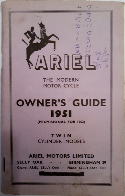 Image for Ariel the Modern Motor Cycle Owner's Guide 1951 (Provisional for 1952) Twin Cylinder Models
