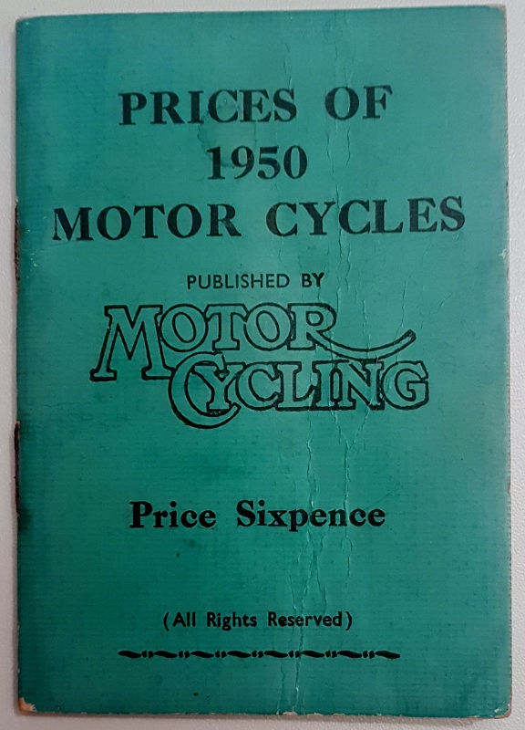Image for Motor Cycling : Specifications and Prices of 1950 British Motorcycles
