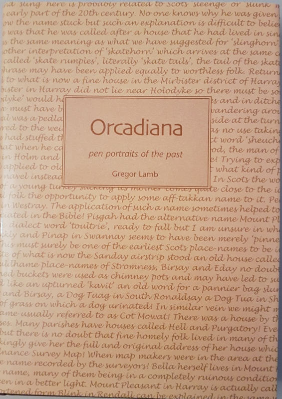 Image for Orcadiana: Pen Portraits of the Past