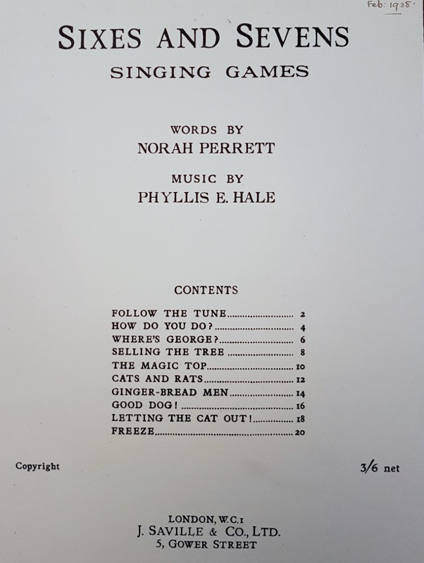 Image for Sixes and Sevens Singing Games