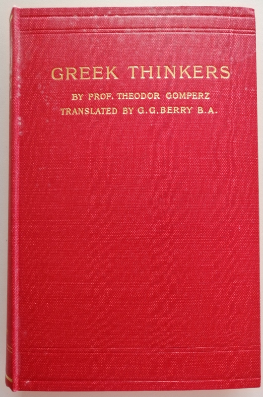 Image for Greek Thinkers: A History of Ancient Philosophy Volume IV