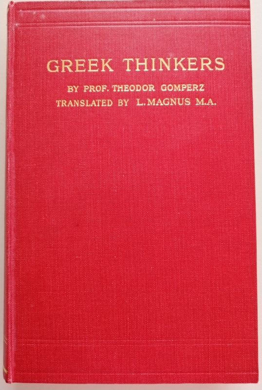 Image for Greek Thinkers: A History of Ancient Philosophy Volume I