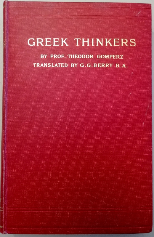 Image for Greek Thinkers. A History of Ancient Philosophy Volume III